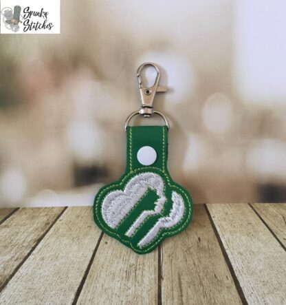 Girl Scout key fob in the hoop embroidery file by spunky stitches