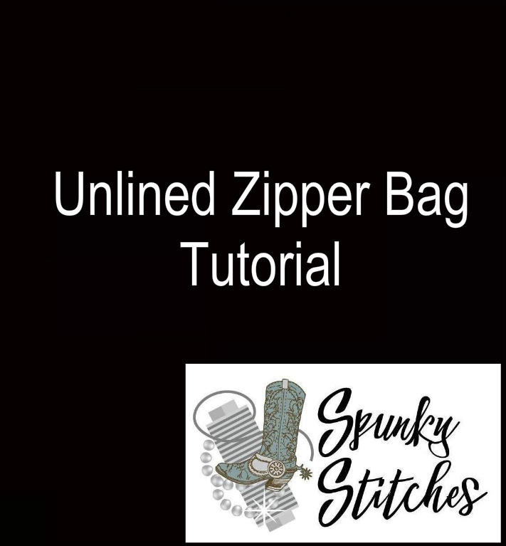 Unlined Zipper Bag Tutorial