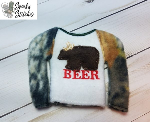 beer elf raglan in the hoop embroidery file by spunky stitches
