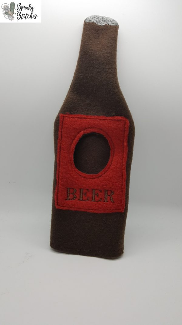 elf beer costume in the hoop embroidery file by spunkystitches