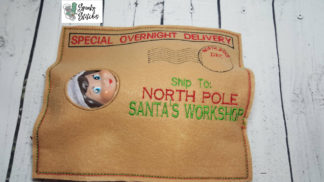 Elf mail in the hoop embroidery file by spunky stitches