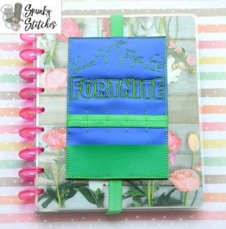 fortnite planner band in the hoop embroidery file by spunky stitches