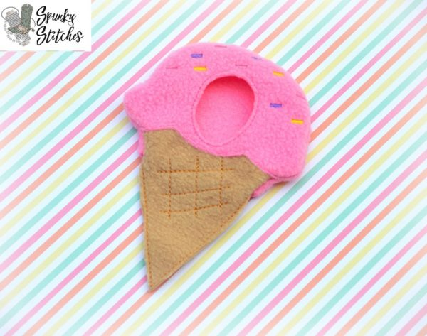 ice cream elf costume in the hoop embroidery file by spunky stitches
