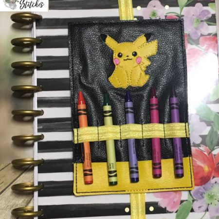 pika planner band pen holder in the hoop embroidery file by spunky stitches