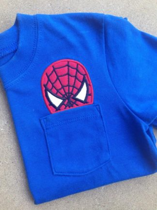 spiderman peeker applique in the hoop embroidery file by spunky stitches