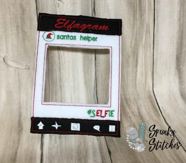 elfagram elf costume in the hoop embroidery file by spunky stitches