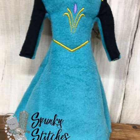 elsa elf costume in the hoop embroidery file by spunky stitches