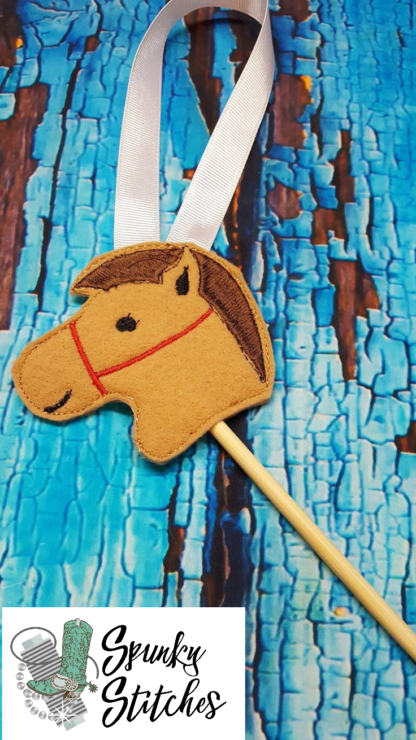 stick horse elf costume in the hoop embroidery file by spunky stitches