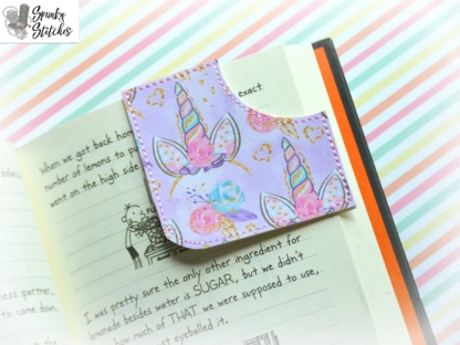 corner bookmark in the hoop embroidery file by spunky stitches