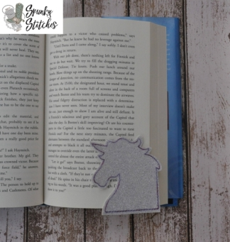 Unicorn bookmark in the hoop embroidery file by spunky stitches