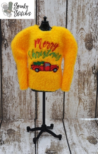 Elf Irish you a merry xmas shirt in the hoop embroidery file by spunky stitches