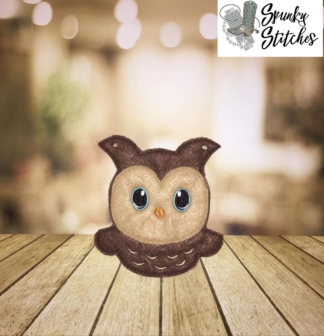 owl banner in the hoop embroidery file by spunky stitches