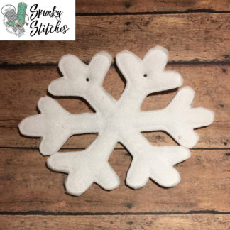 Snowflake banner in the hoop embroidery file by spunky stitches