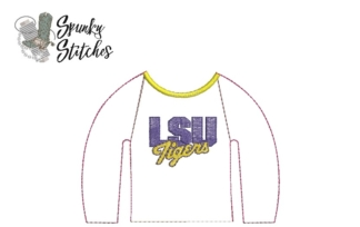 lsu elf raglan in the hoop embroidery file by spunky stitches