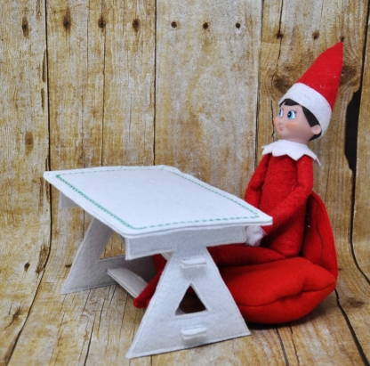 Elf table in the hoop embroidery file by spunky stitches