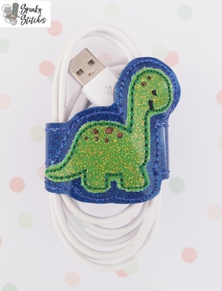 dino cord wrap in the hoop embroidery file by Spunky stitches