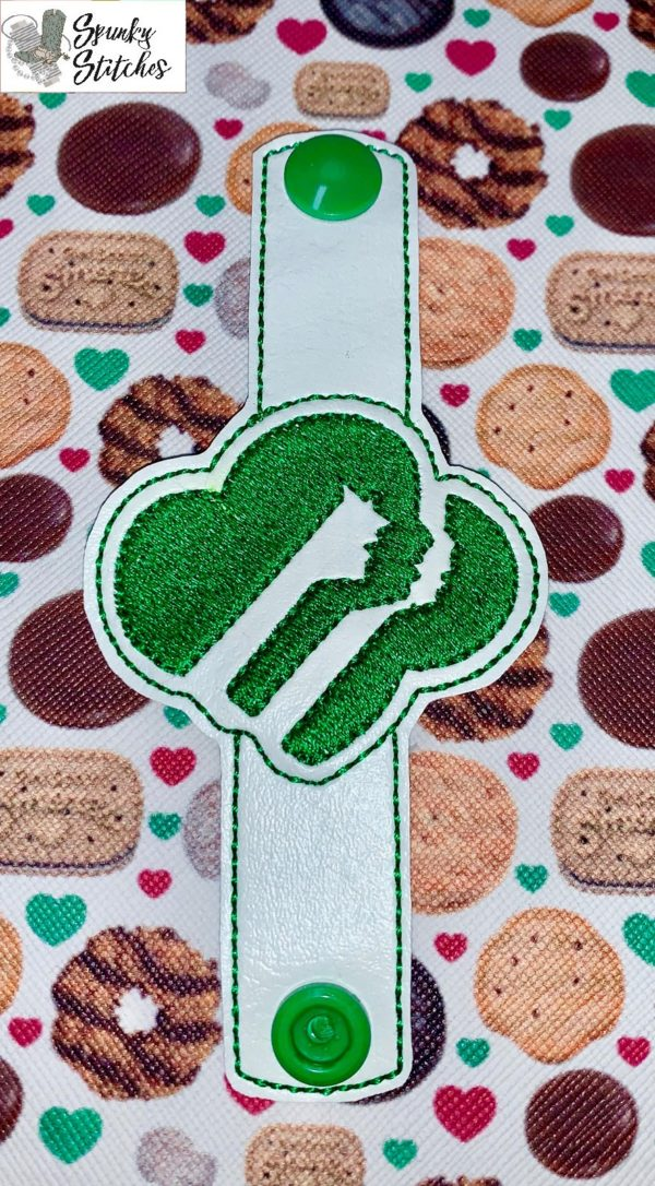 girl scout cord wrap in the hoop embroidery file by Spunky stitches