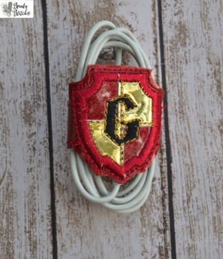 gryffindor cord wrap in the hoop embroidery file by Spunky stitches