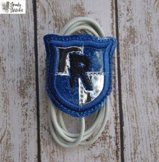 ravenclaw cord wrap in the hoop embroidery file by Spunky stitches