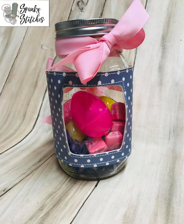 rectangle jar wrap in the hoop embroidery file by Spunky stitches