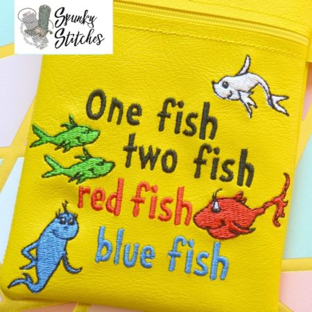 one fish embroidery file by Spunky stitches