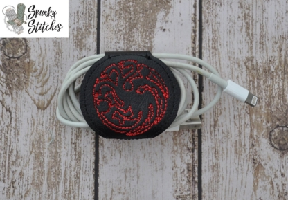 targaryn cord wrap in the hoop embroidery file by Spunky stitches