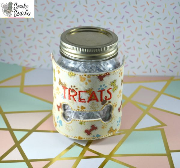 Treats Jar wrap in the hoop embroidery file by Spunky stitches