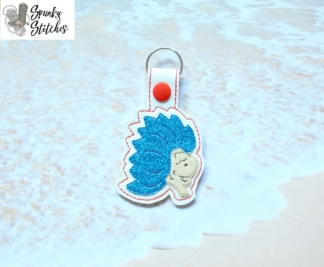 Thing Key Fob in the hoop embroidery file by Spunky stitches