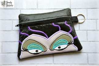ursula zipper bag in the hoop embroidery file by Spunky stitches