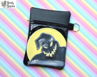 jack ghost zipper bag in the hoop embroidery file by Spunky stitches