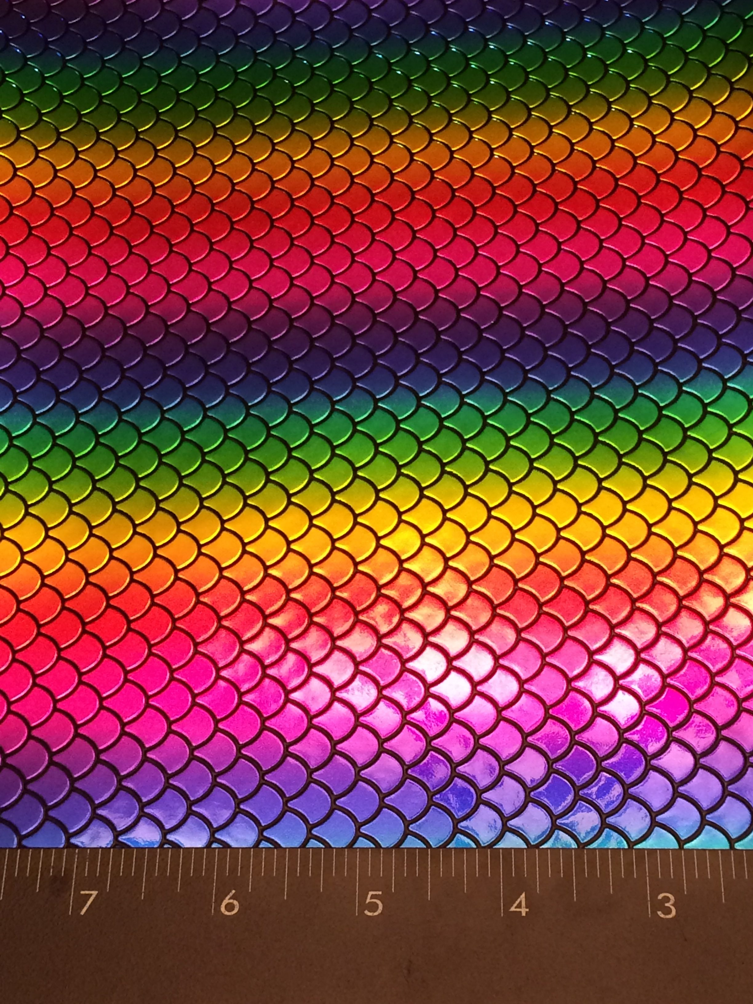 Mermaid - Mermaid Scales - Shiny Rainbow vinyl sheet