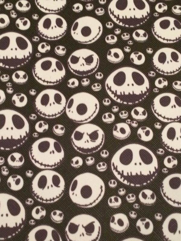 NBC - Jack Skull Only faux leather printed vinyl sheet